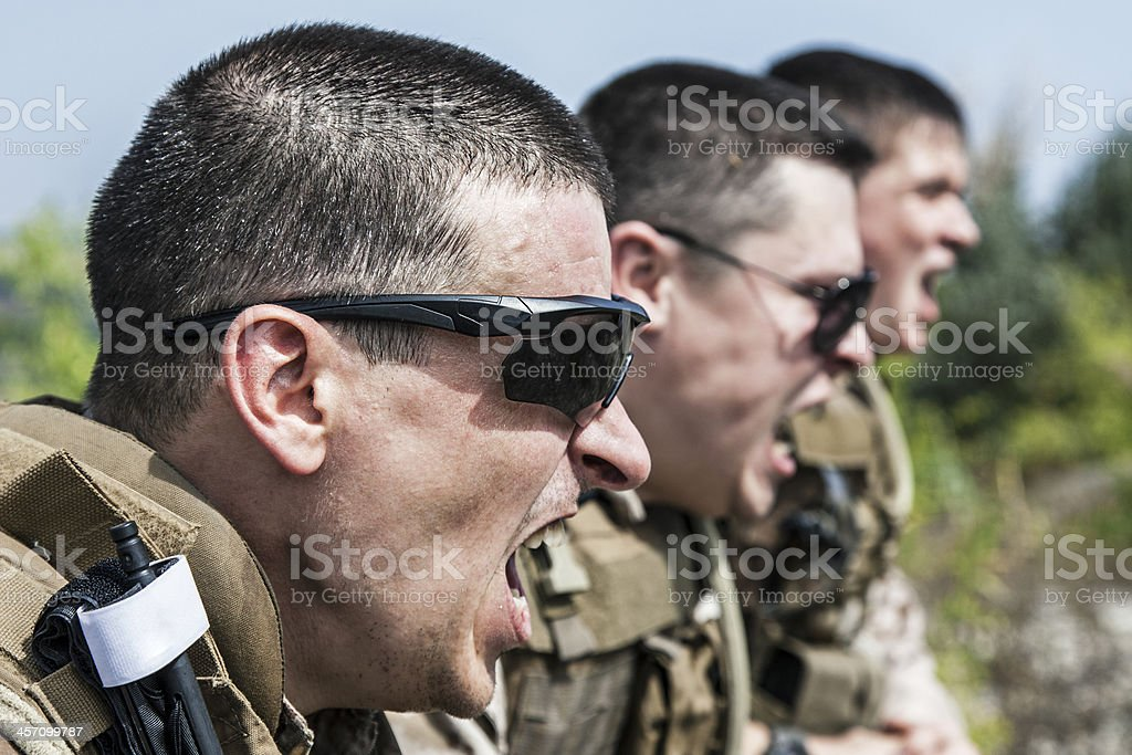shouting stock photo