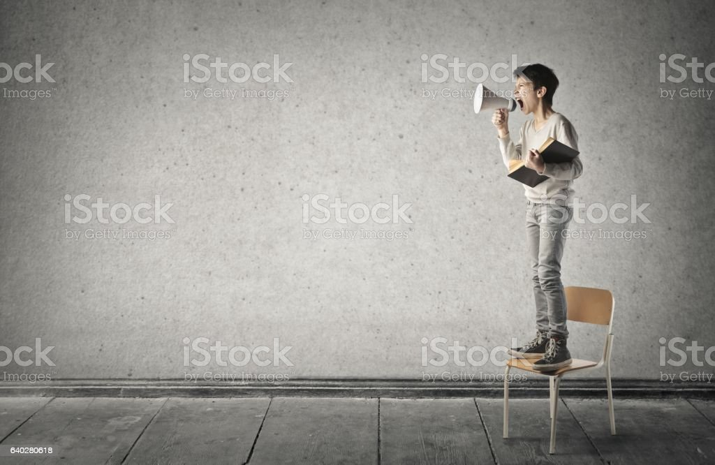 Shouting stock photo