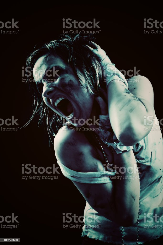 Shouting With Pain royalty-free stock photo