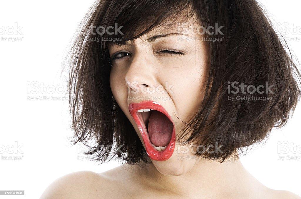 Shouting woman royalty-free stock photo