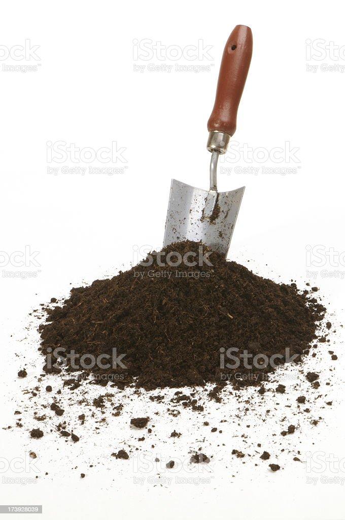 shovel and soil royalty-free stock photo