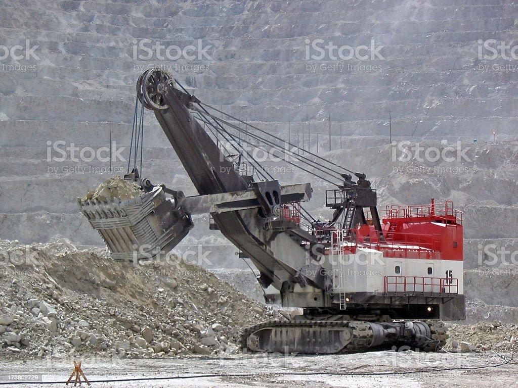 Shovel at Mine stock photo