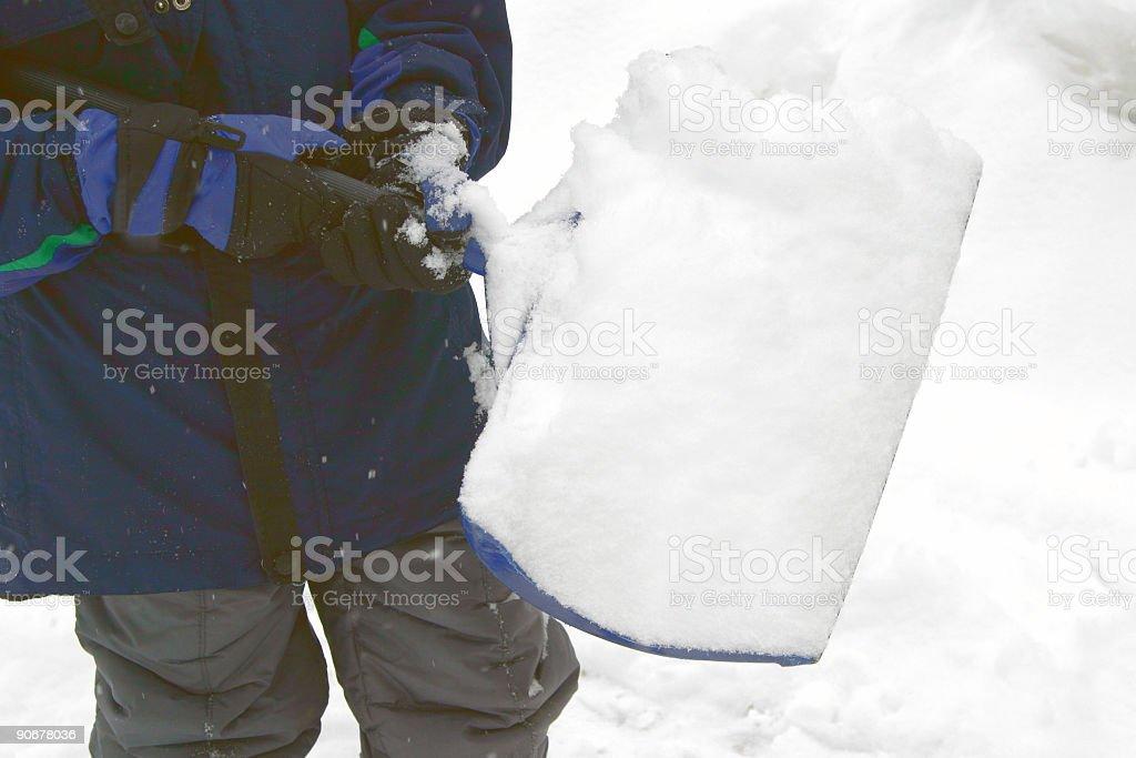 shovel full stock photo