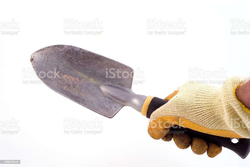 shovel hand royalty-free stock photo