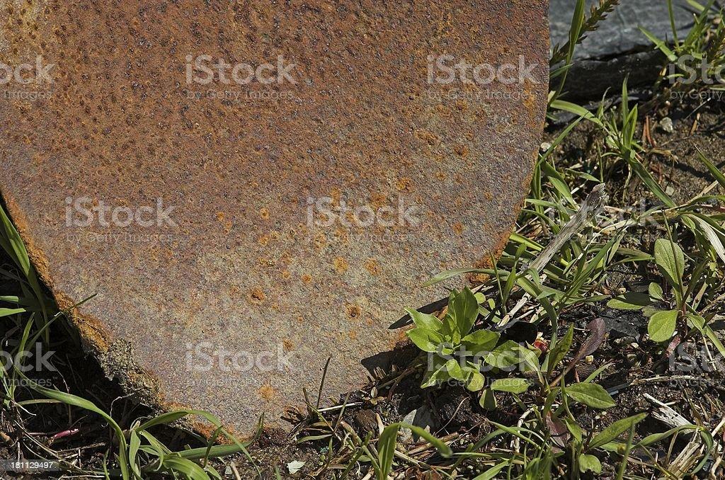 shovel in dirt royalty-free stock photo
