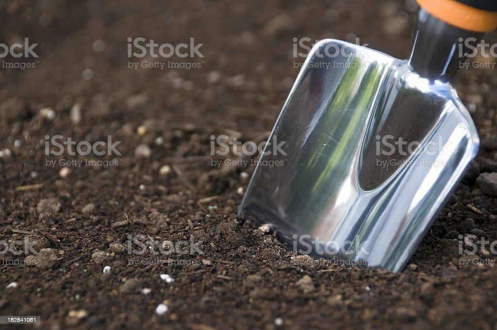 Shovel in the Dirt stock photo