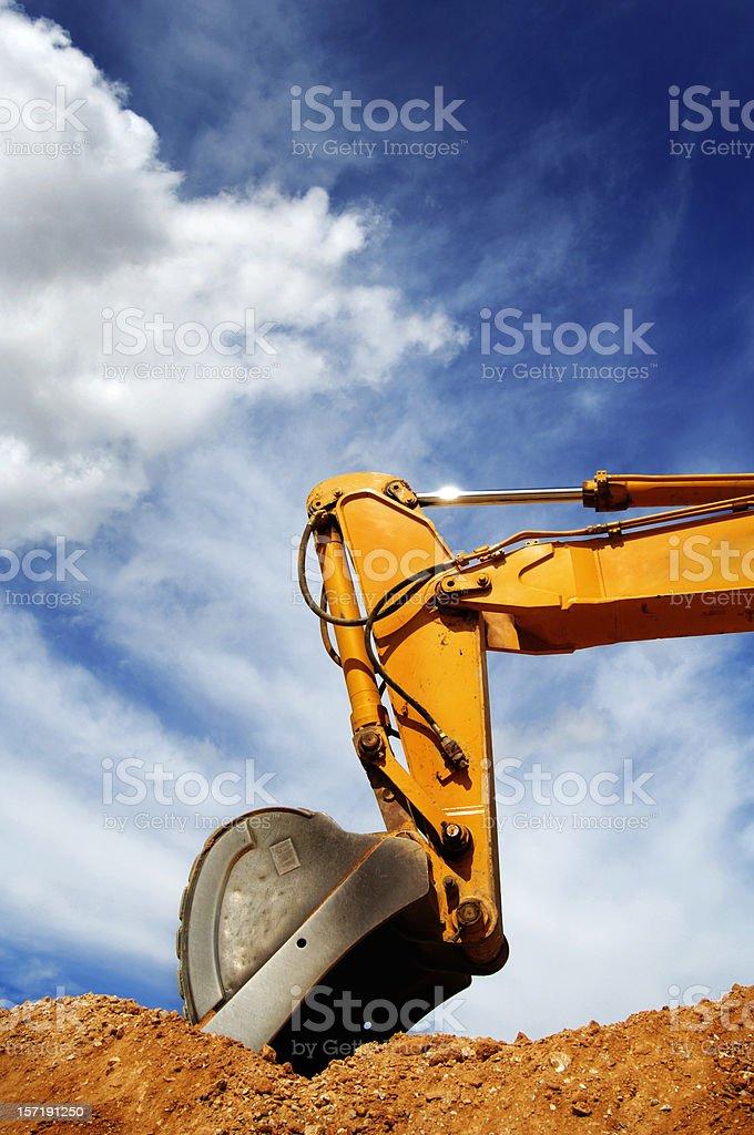 Shovel of a Bulldozer stock photo