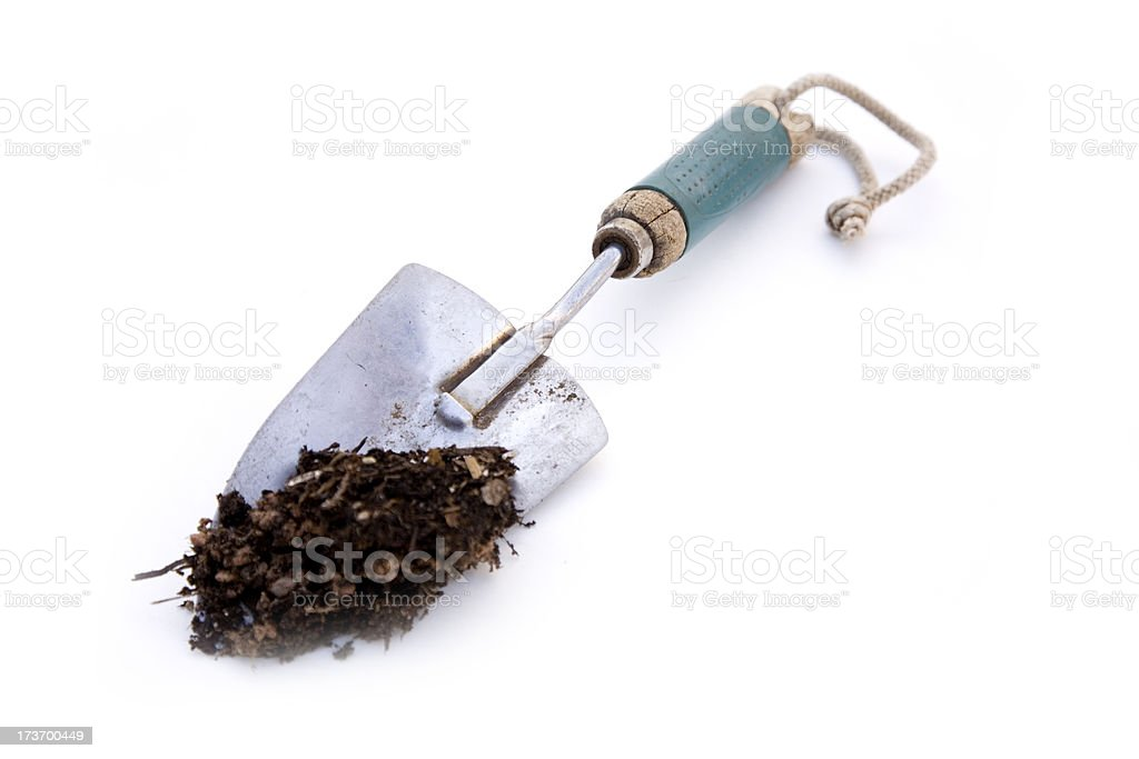 Shovel of dirt royalty-free stock photo