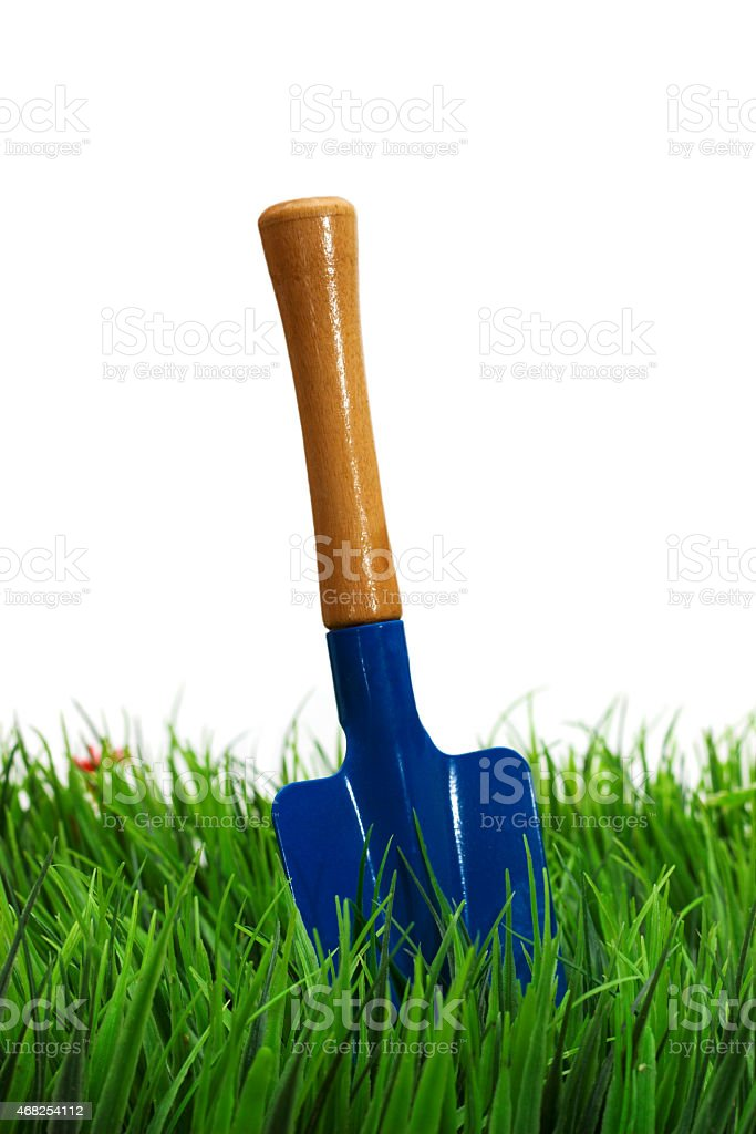 Shovel on white background. garden tool. stock photo