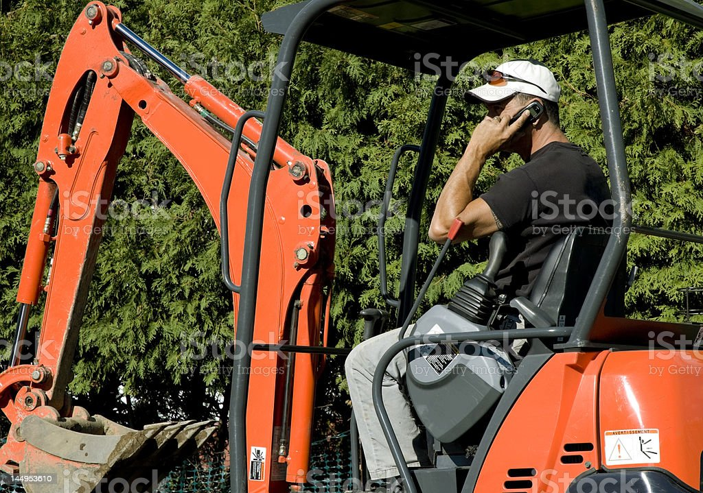 Shovel operator royalty-free stock photo