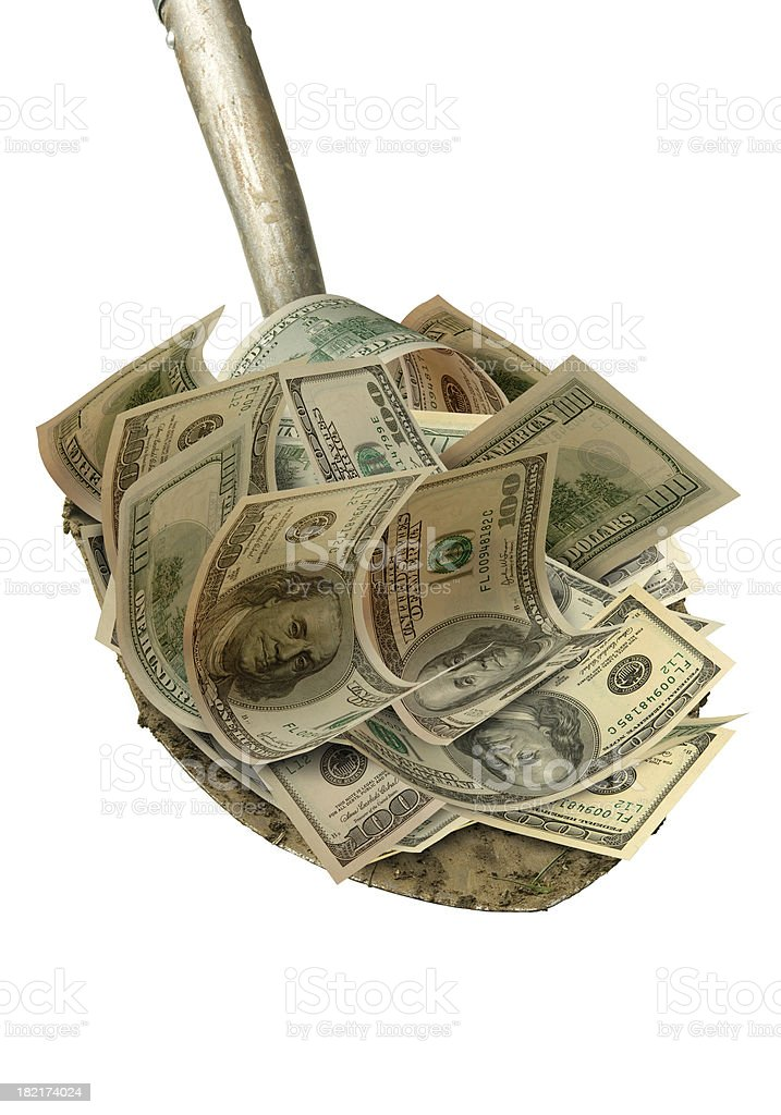 Shovel Ready Money royalty-free stock photo