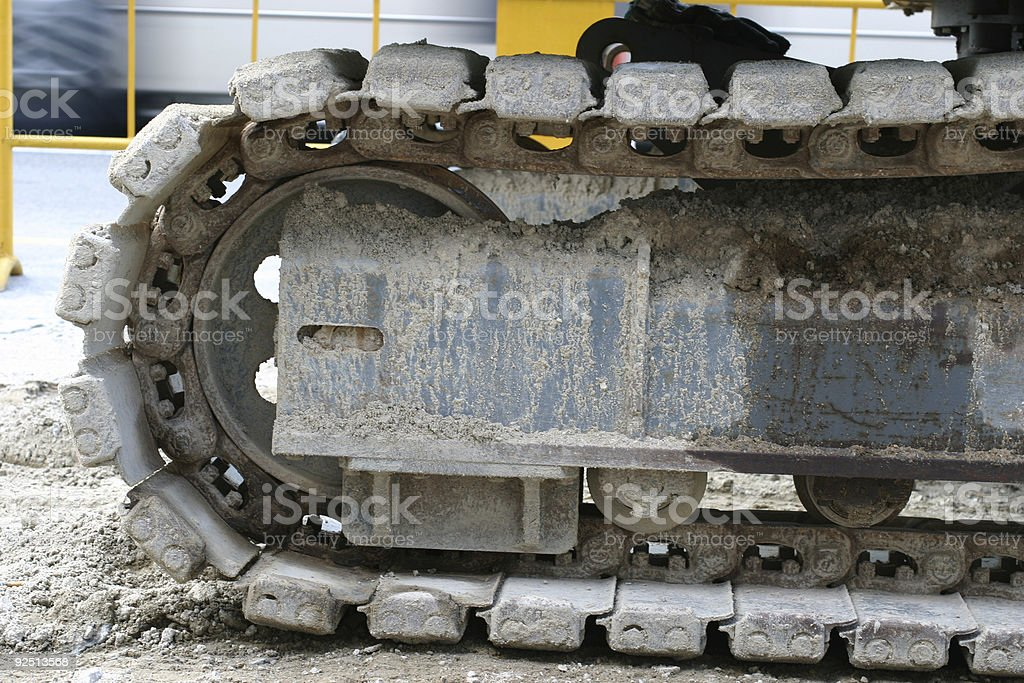 Shovel Track royalty-free stock photo