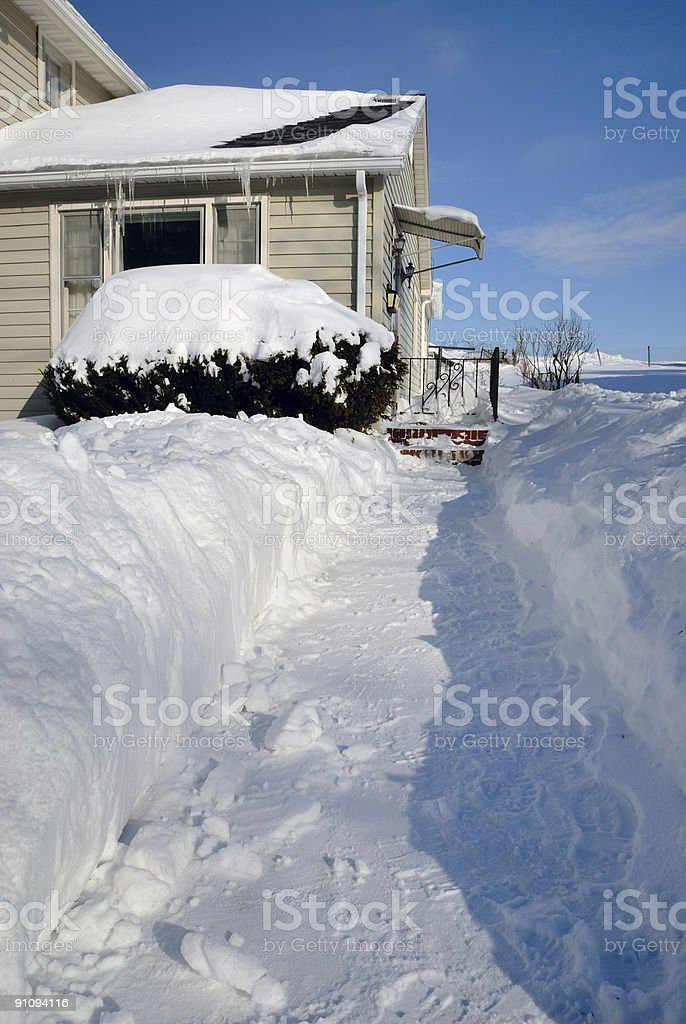 Shoveled Sidewalk royalty-free stock photo