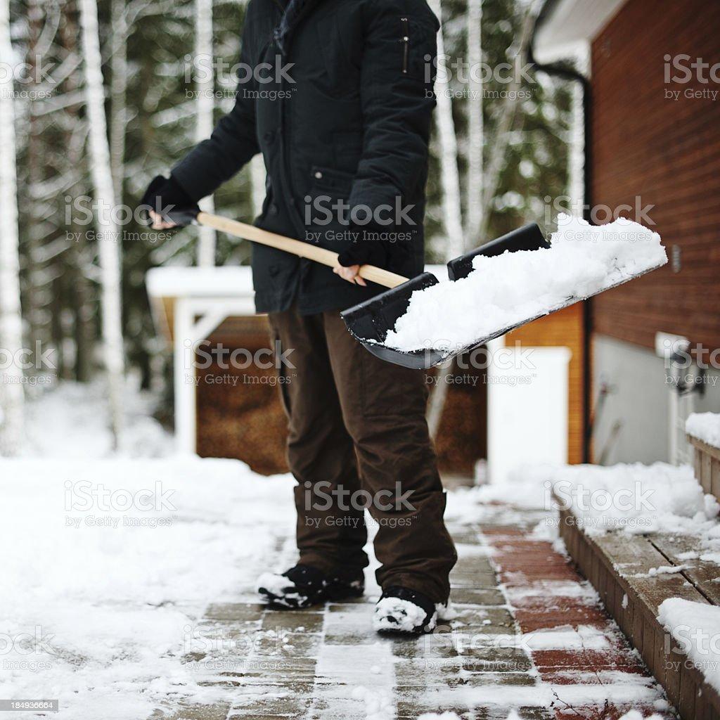 Shoveling snow royalty-free stock photo