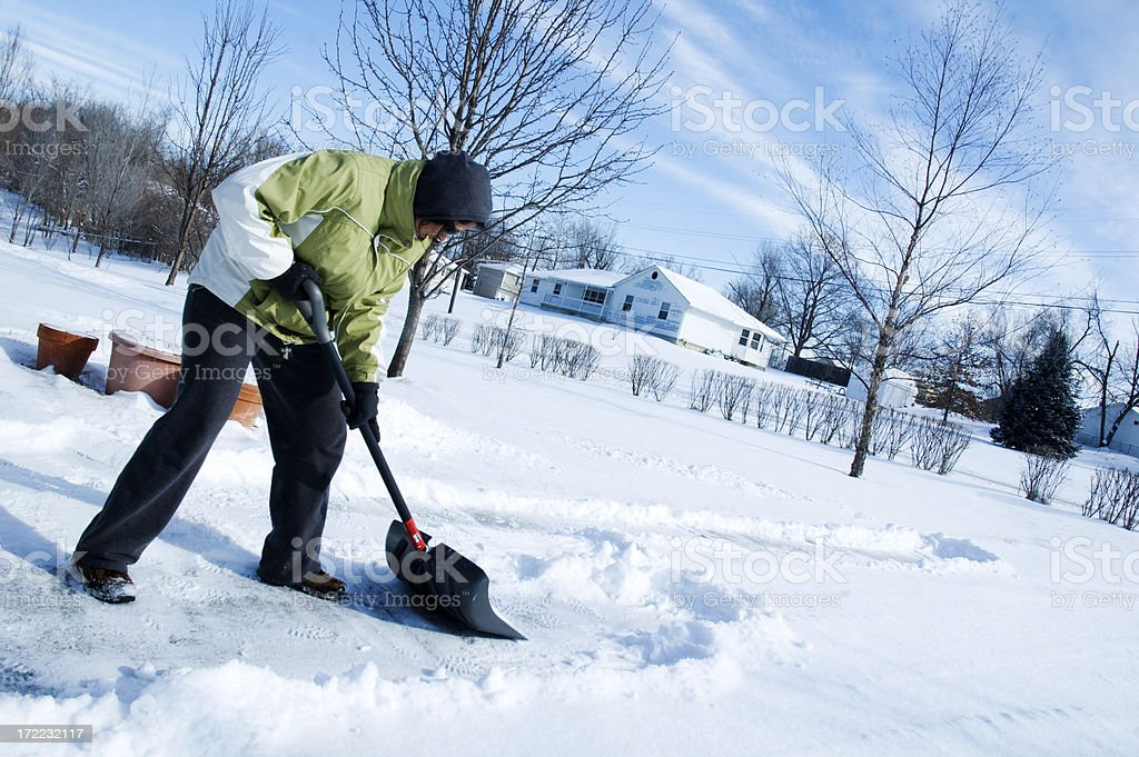 Shoveling Winter Snow stock photo
