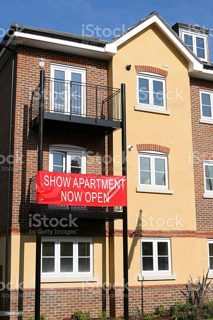 Show Apartment Now Open royalty-free stock photo