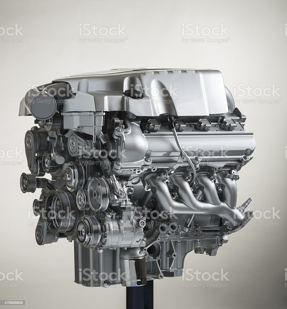 V-8 show engine stock photo