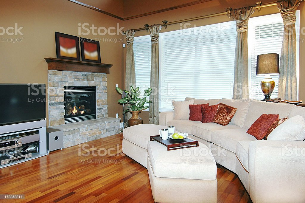 Show Home Living Room royalty-free stock photo