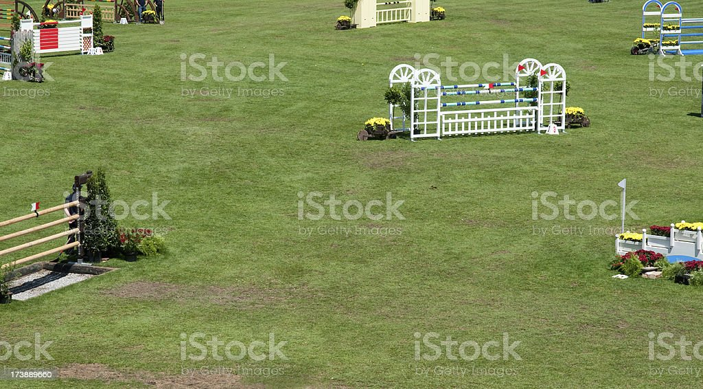 show jumping course royalty-free stock photo