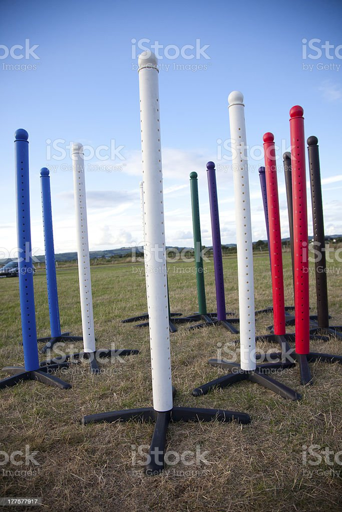 show jumping fence wings royalty-free stock photo