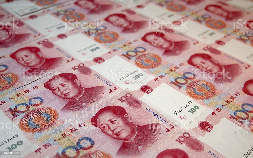 Show me the Money! Chinese yuan note royalty-free stock photo