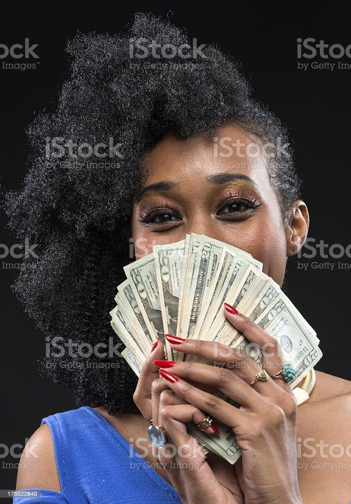 Show me the money stock photo