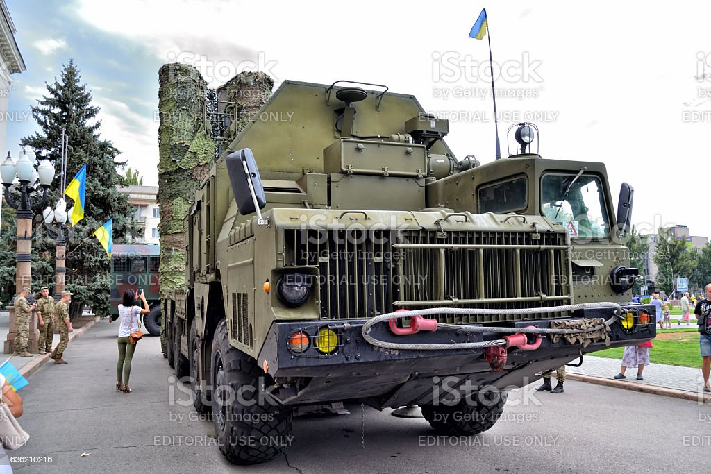 Show of army equipment stock photo