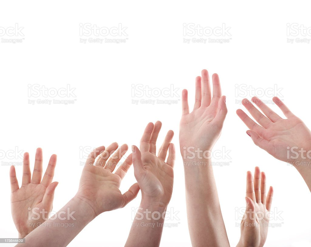 Show of hands royalty-free stock photo
