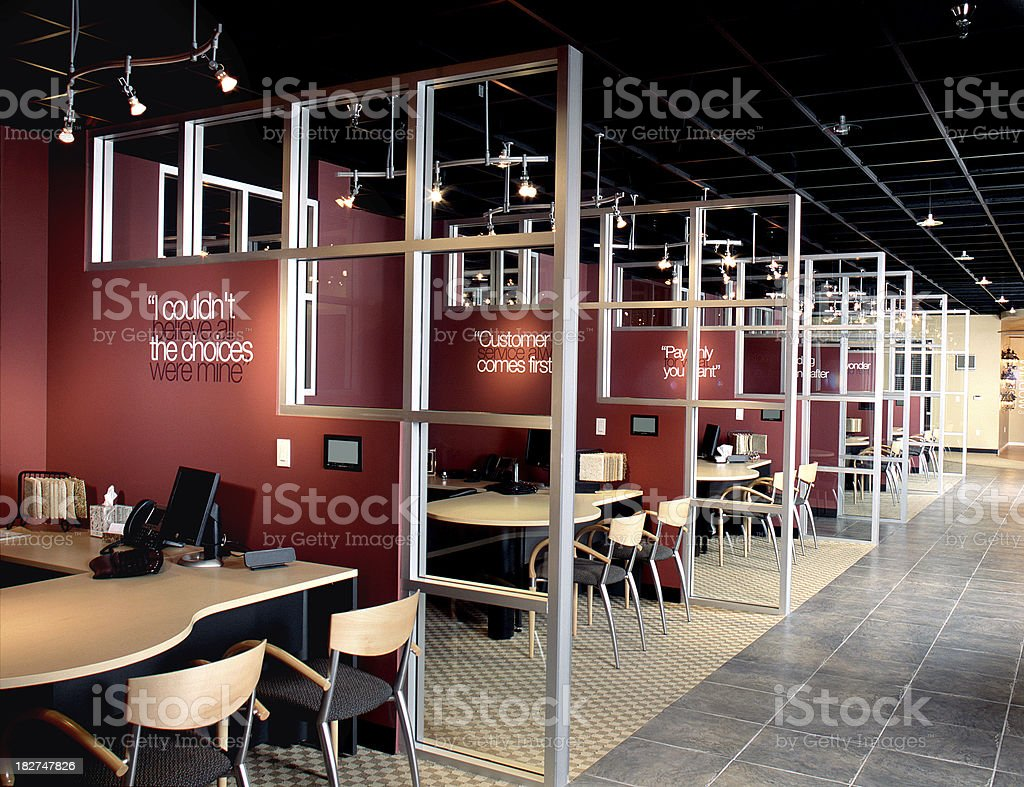 Show Room Office Design Interior Commercial royalty-free stock photo