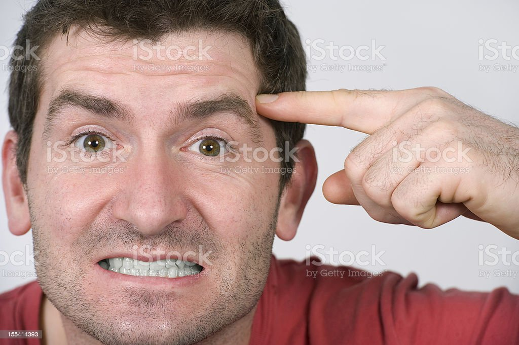 show someone that they are cuckoo stock photo