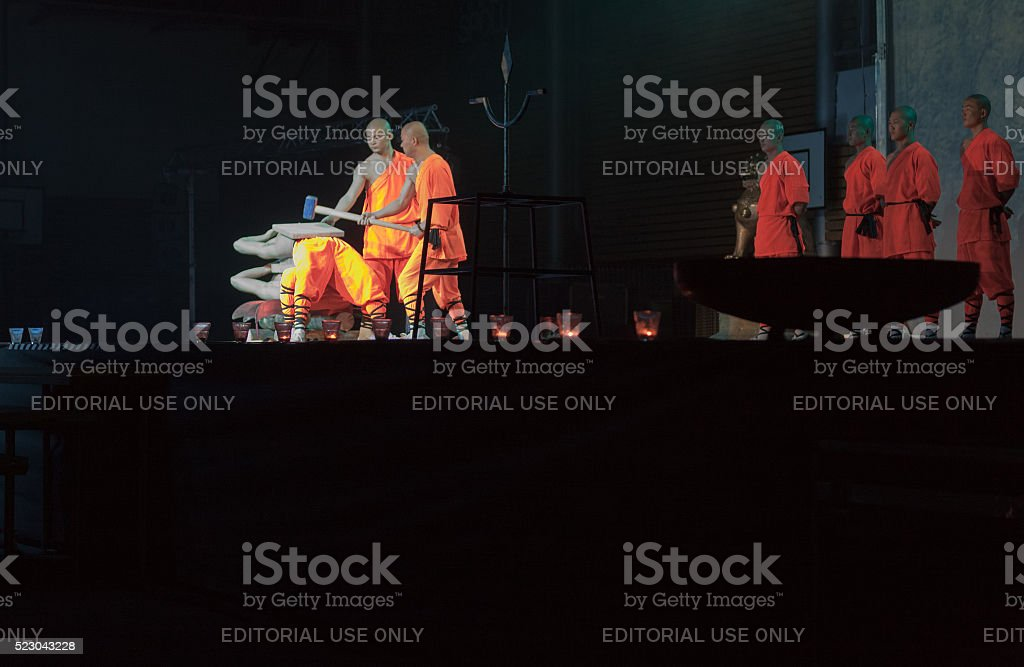 Show The Mystical Powers of The Shaolin Monks of China stock photo