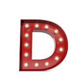 Showbiz cinema movie theatre illuminated letter D
