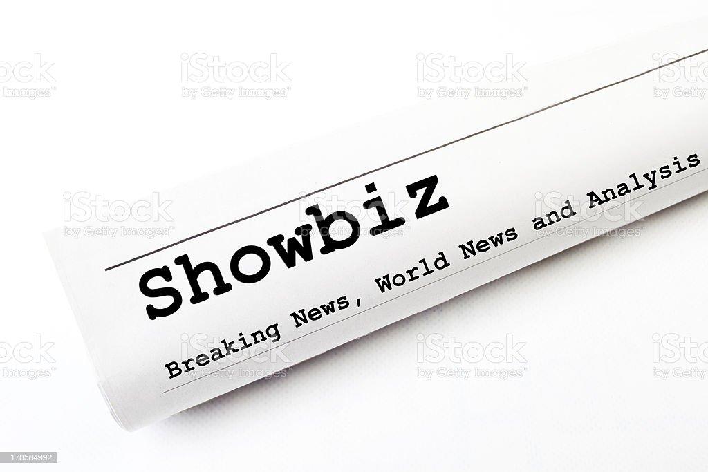Showbiz newspaper royalty-free stock photo