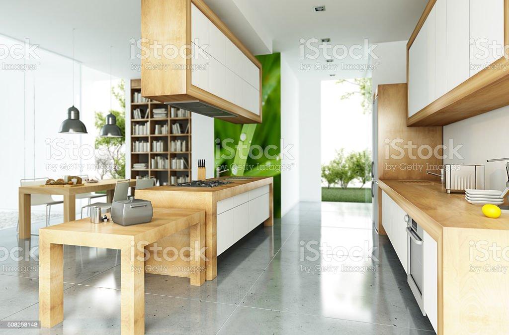 Showcase interior house stock photo