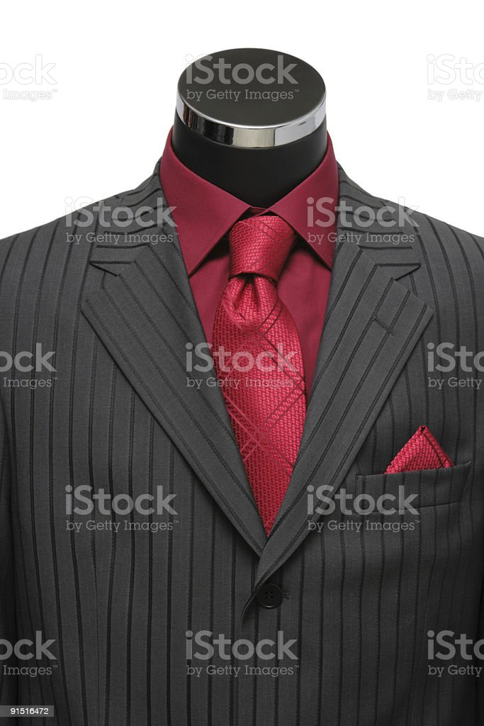 Showcase Mannequin Dressed In Suit royalty-free stock photo