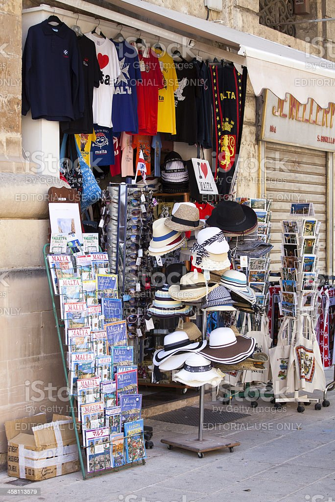 'Showcase of souvenir shop in Valletta, Malta' royalty-free stock photo