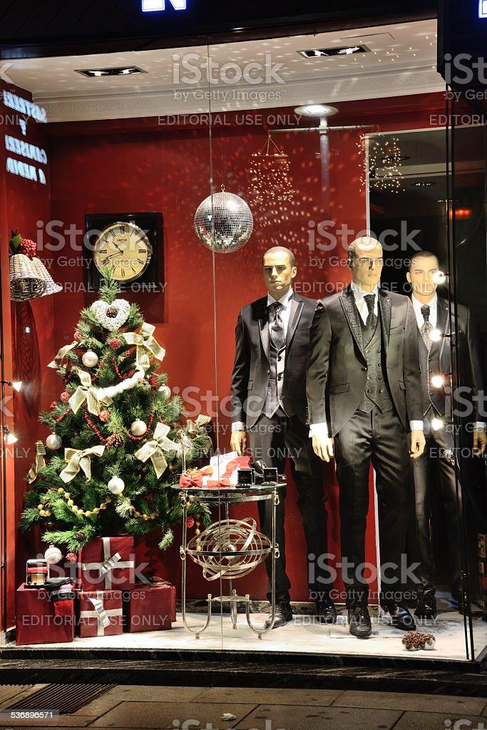 Showcase shop. stock photo