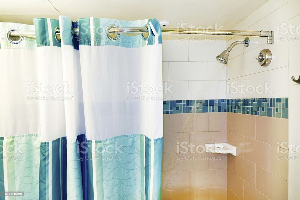 Shower and Curtain royalty-free stock photo