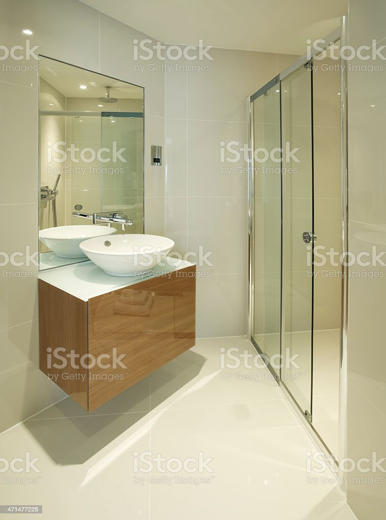 Shower area and basin royalty-free stock photo