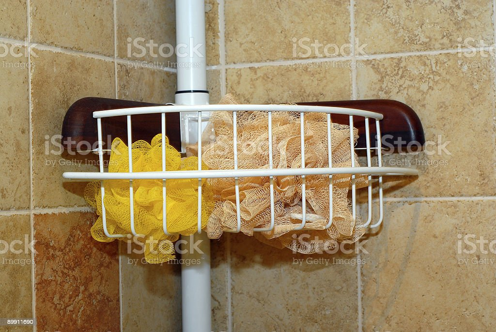 Shower caddy stock photo
