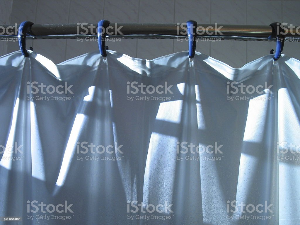 shower curtain 1 of 2 royalty-free stock photo