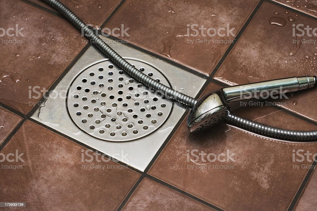 Shower drain royalty-free stock photo