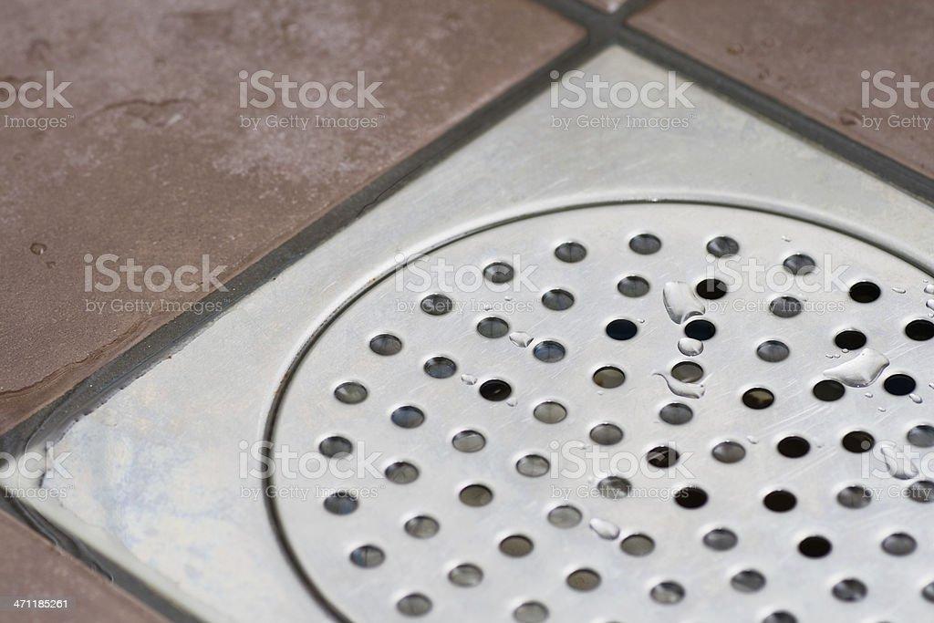 Shower drain royalty-free stock photo
