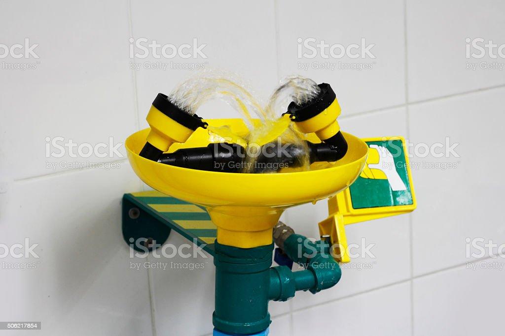 shower eyes wash stock photo