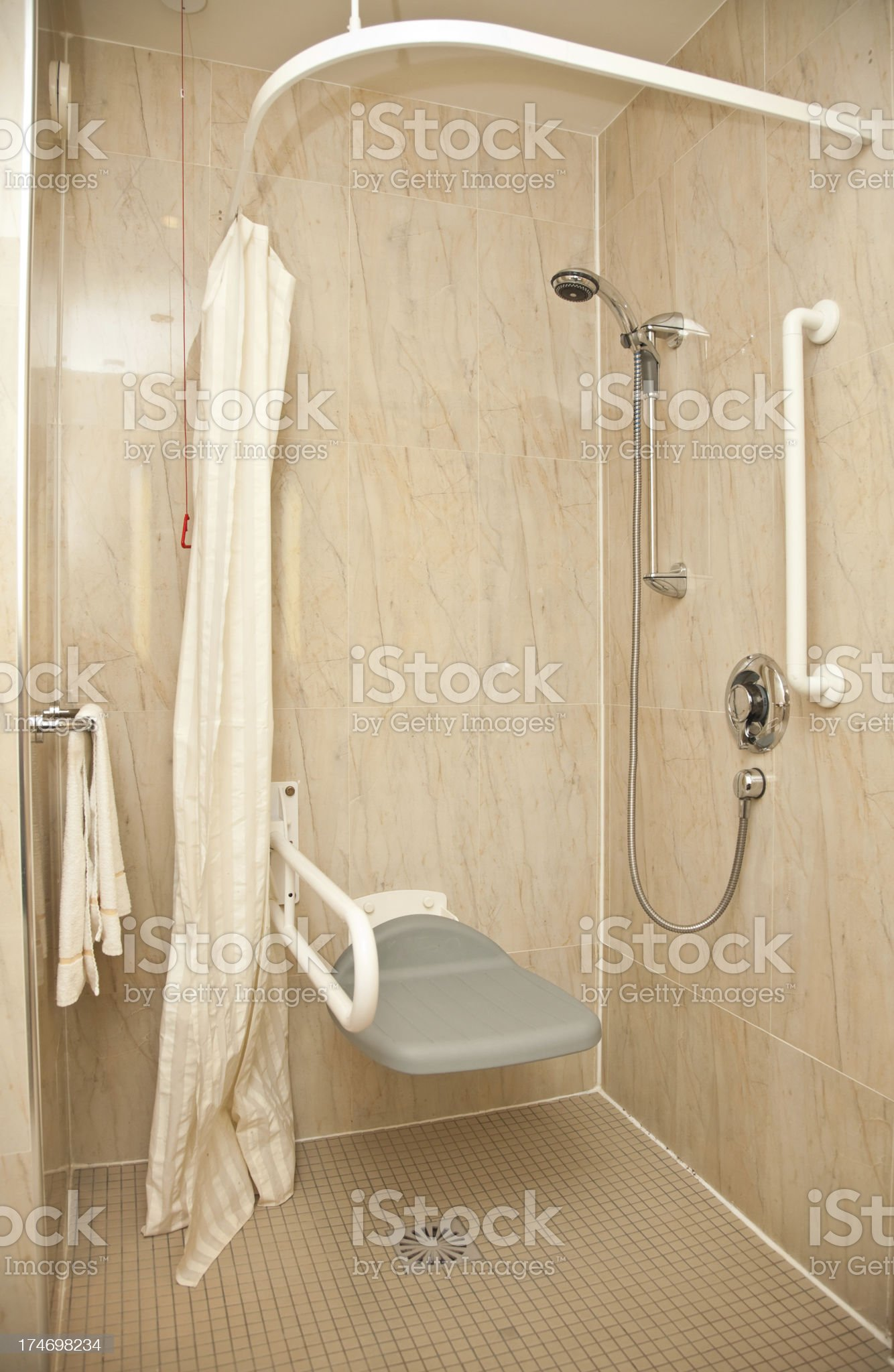 Shower for the disabled royalty-free stock photo