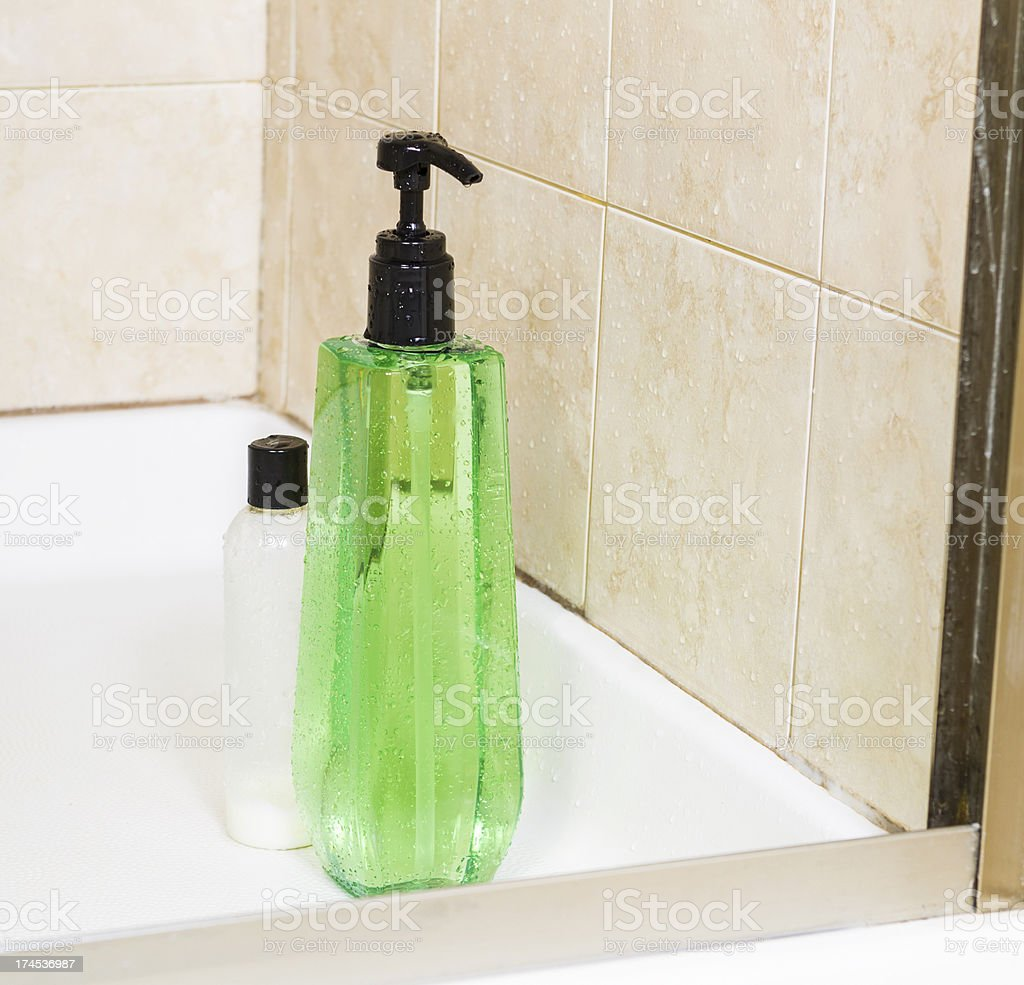 Shower Gel and Hair Conditioner stock photo