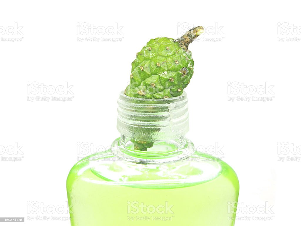 shower gel bottle with fir extract royalty-free stock photo