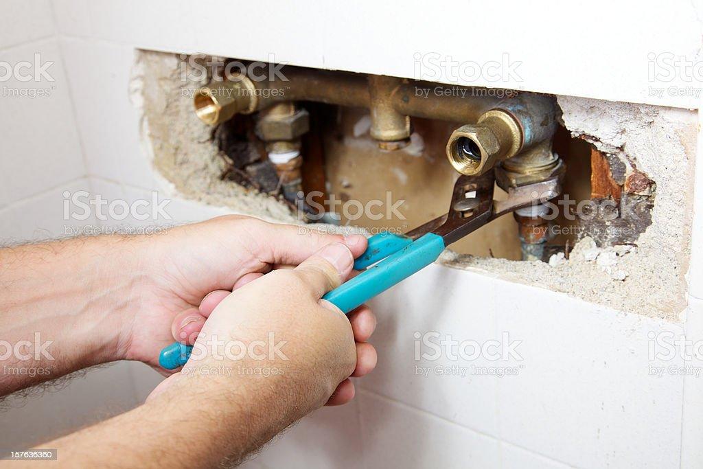 Shower Leak stock photo