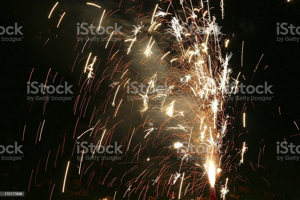 Shower of Sparks 2 stock photo