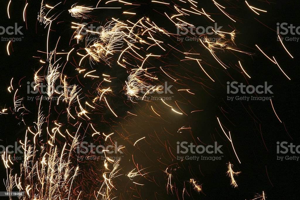 Shower of Sparks stock photo